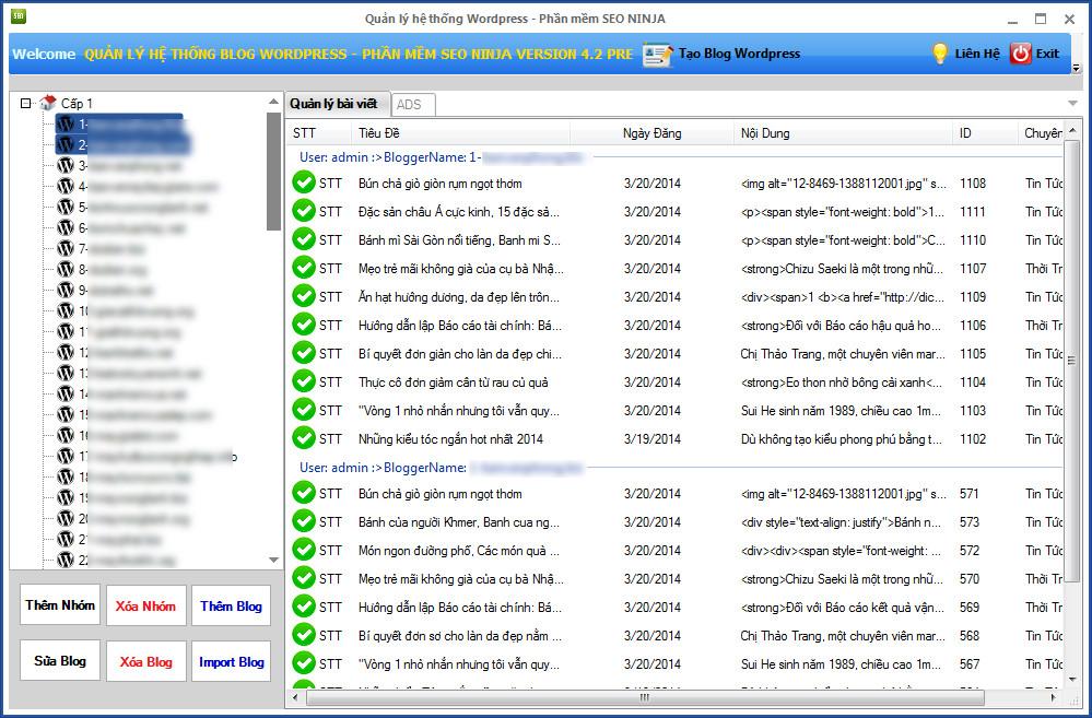 phan mem seo ninja version 4 2 Phần mềm đăng tin blog, phần mềm seo, quản trị site vệ tinh   Ninja Seo