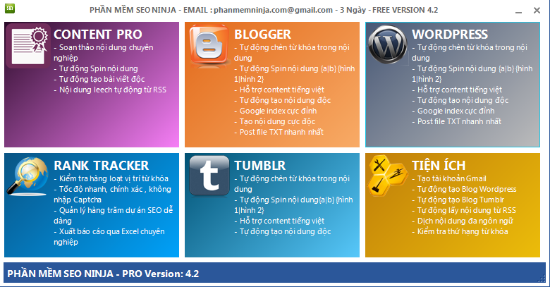 phan mem seo ninja Phần mềm đăng tin blog, phần mềm seo, quản trị site vệ tinh   Ninja Seo