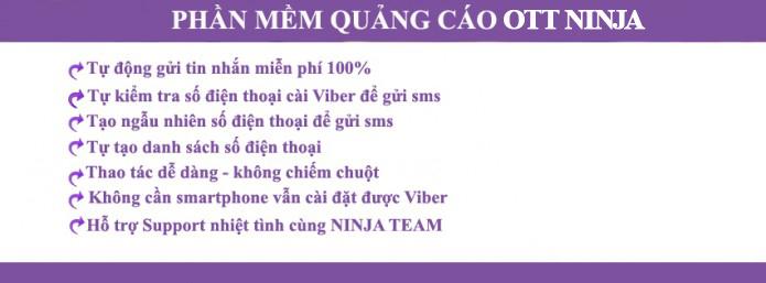 phan mem viber2 Phần mềm gửi sms viber miễn phí, phần mềm quảng cáo viber  Viber Ninja