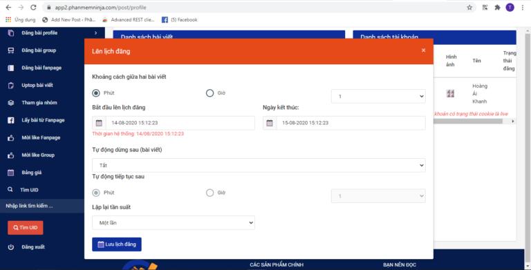 Phần mềm tự động lập lịch đăng bài tự động