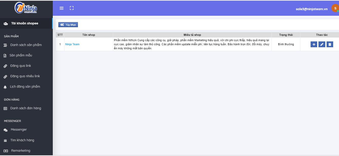 Ninja shopee Ninja Shoppe – Phần mềm quản lý chăm sóc shop chuyên nghiệp