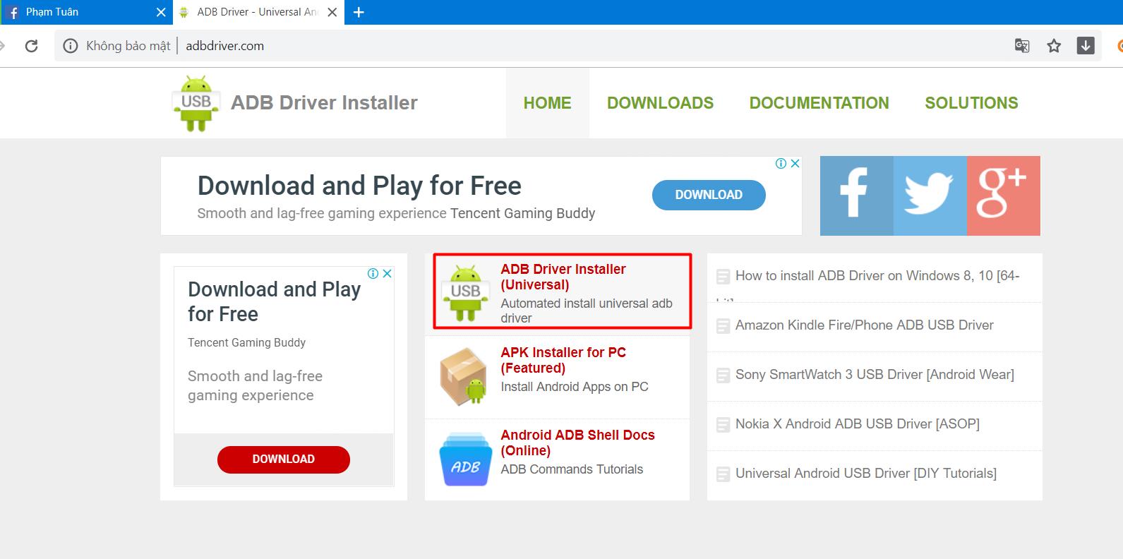 1 Hướng dẫn cài đặt ADB Driver để dùng phần mềm nuôi nick giả lập điện thoại Ninja System