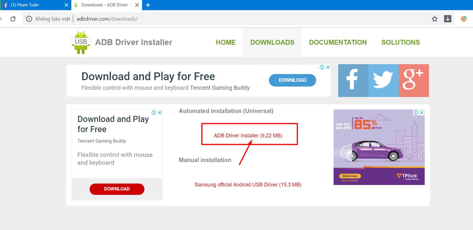 2 Hướng dẫn cài đặt ADB Driver để dùng phần mềm nuôi nick giả lập điện thoại Ninja System