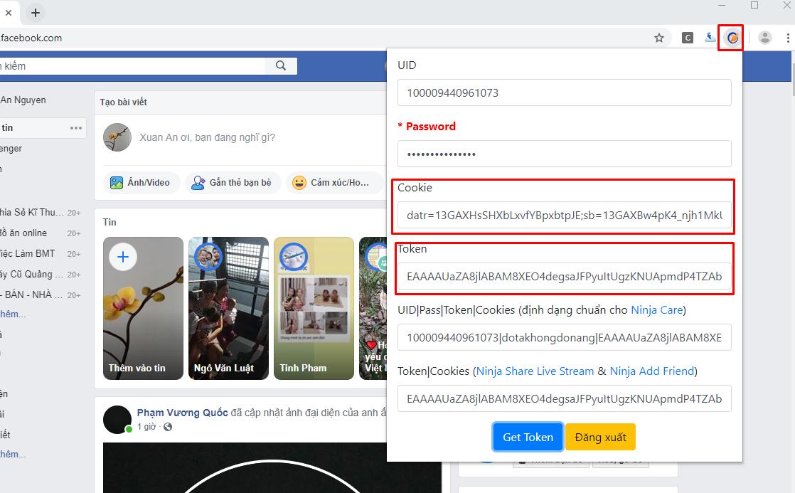 Screenshot 10 Hướng dẫn cách lấy cookei và token full quyền facebook
