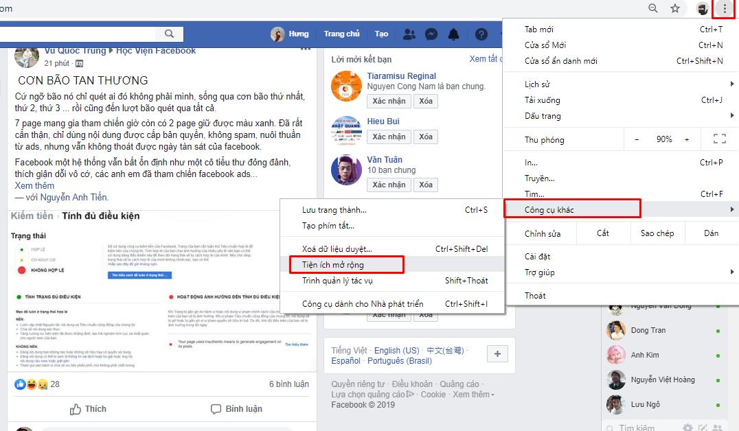 Screenshot 6 Hướng dẫn cách lấy cookei và token full quyền facebook