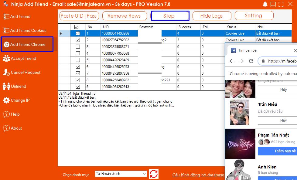 Screenshot 4 Hướng dẫn sử dụng Add Friend Chrome