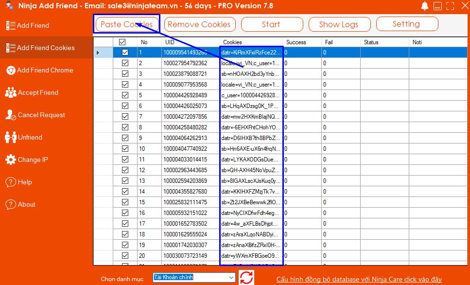 Screenshot 6 Phần mềm Add Friend   Hướng dẫn sử dụng tính năng Add Friend bằng Cookei