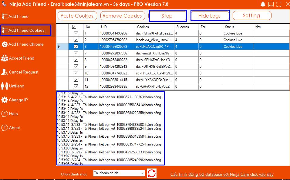 Screenshot 8 Phần mềm Add Friend   Hướng dẫn sử dụng tính năng Add Friend bằng Cookei