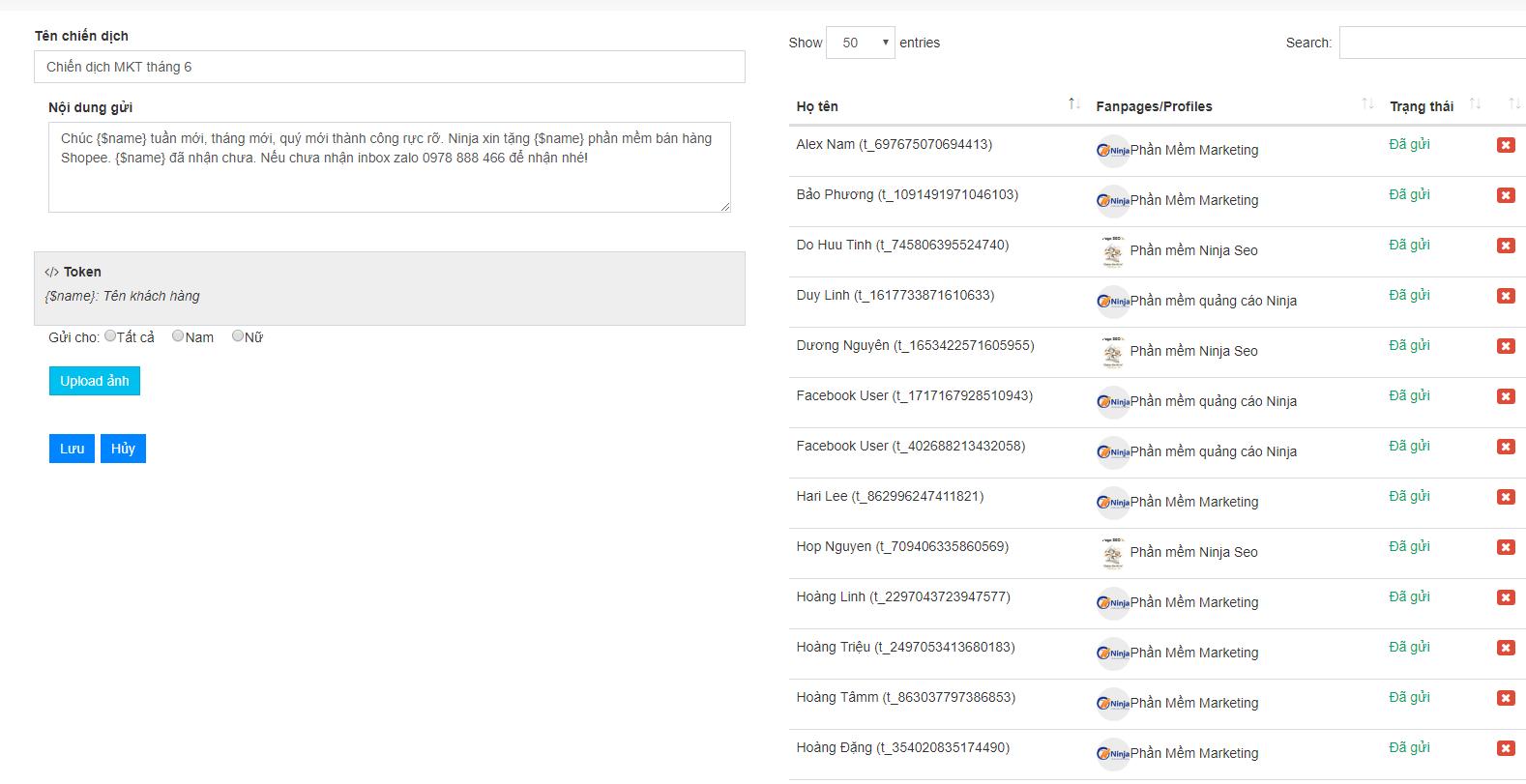 chien dich ninja fanpage Remarketing hiệu quả bán trăm đơn mỗi ngày với phần mềm gửi tin nhắn fanpage