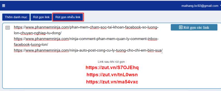 b Phần mềm Ninja ra mắt web rút gọn link mới MIỄN PHÍ Zut.VN