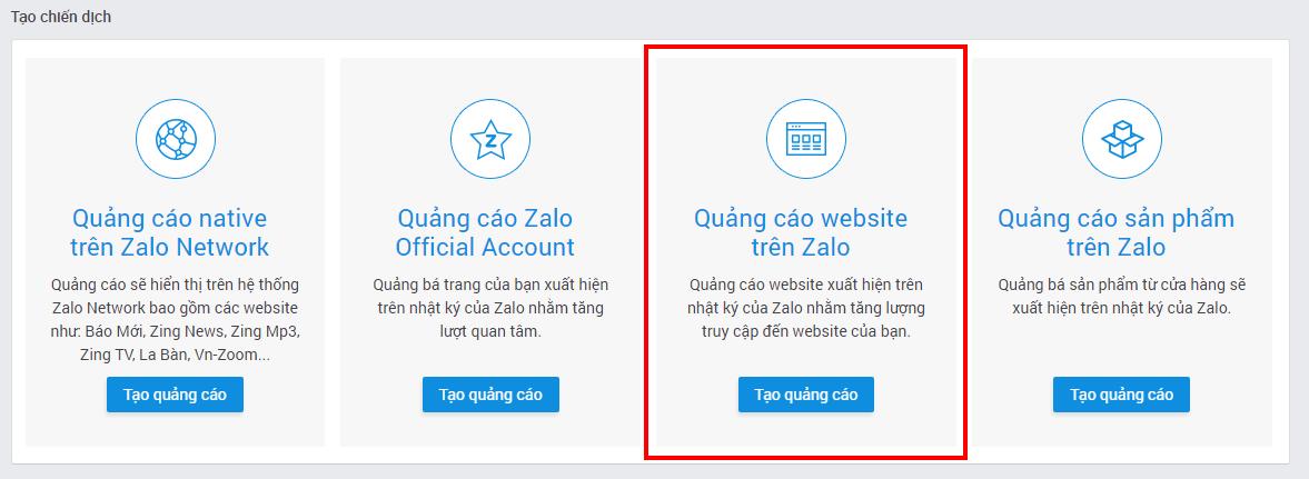 1 Hướng dẫn chạy quảng cáo website trên nền tảng Zalo