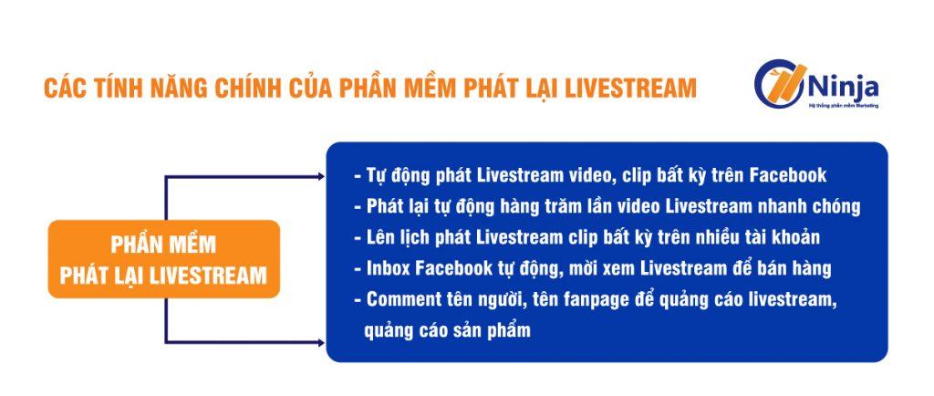 Các tính năng của phần mềm phát lại livestream