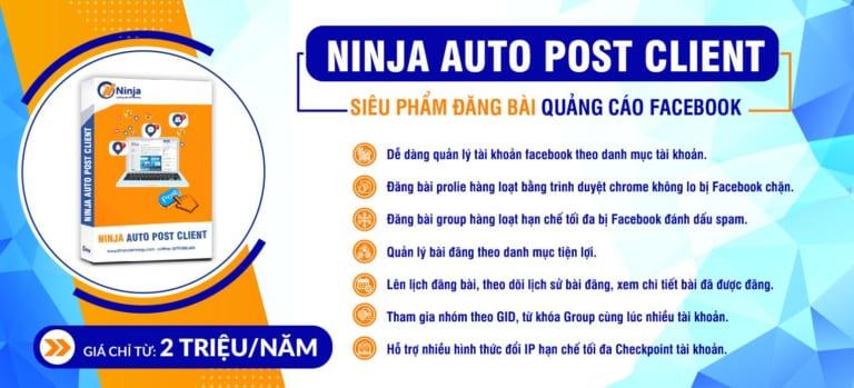 Tính năng chính phần mềm ninja auto post